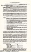 Music Memorabilia:Miscellaneous, Jackson Five Signed Contract....