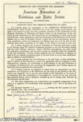 Music Memorabilia:Miscellaneous, Beach Boys' David Marks Signed Contract....