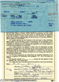 Music Memorabilia:Miscellaneous, Beach Boys' Bruce Johnston Signed Contract....