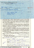 Music Memorabilia:Miscellaneous, Beach Boys' Al Jardine Signed Contract....