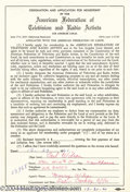 Music Memorabilia:Miscellaneous, Beach Boys' Carl Wilson Signed Applications....