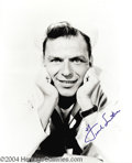Music Memorabilia:Photos, Frank Sinatra Signed Photo....