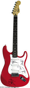 Musical Instruments:Electric Guitars, Fender Guitar Signed by Aerosmith....