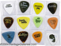 Music Memorabilia:Miscellaneous, Guitar Picks - Group of 12.... (12 items)