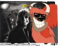 Music Memorabilia:Photos, Ozzy Osbourne Photo with Yakkity Yak Animation Cel.... (2 items)