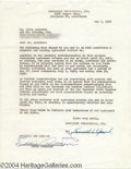 "Music Memorabilia:Autographs and Signed Items, Eddie ""Rochester"" Anderson - Signed Agreement (1950)...."