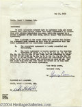 Music Memorabilia:Autographs and Signed Items, George Burns - Signed Agreement (1953)....