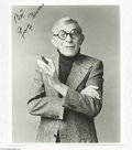 "Music Memorabilia:Photos, George Burns Signed 8"" x 10"" Black and White ..."