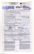 Music Memorabilia:Autographs and Signed Items, Belinda Carlisle - Signed Contract (2001)....