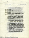 Music Memorabilia:Autographs and Signed Items, Johnny Carson - Signed Agreement (1968)....