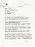 Music Memorabilia:Autographs and Signed Items, Chevy Chase - Signed Agreement (1976)....