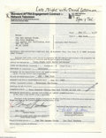 Music Memorabilia:Autographs and Signed Items, Paul Reubens aka Pee-Wee Herman - Signed Contract (1983)....