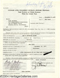 Music Memorabilia:Autographs and Signed Items, Andy Kaufman - Signed Contract (1977)....