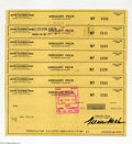 Music Memorabilia:Autographs and Signed Items, Gregory Peck - Group of Seven Signed Checks (1979)....