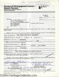 Music Memorabilia:Autographs and Signed Items, Gilda Radner Signed Contract....