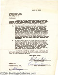 Music Memorabilia:Autographs and Signed Items, Rodgers and Hammerstein Signed Contract....