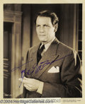 Music Memorabilia:Autographs and Signed Items, Rex Harrison, Paul Henreid, Joel McCrea, and Ray MillandAutographs....