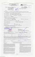 Music Memorabilia:Autographs and Signed Items, Rob Schneider - Signed Contract (2001)....