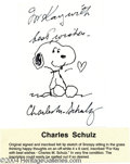Music Memorabilia:Autographs and Signed Items, Charles Schulz - Autographed Snoopy Sketch (No Date)....