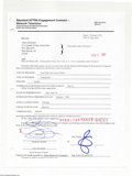 Music Memorabilia:Autographs and Signed Items, Gene Simmons - Signed Contract (2002)....