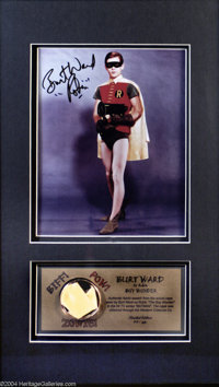 Burt Ward As Robin the Boy Wonder Limited Edition Autograph and Swatch 20/250. Holy Collectible, Batman! It's the Boy Wo...