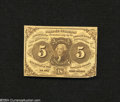 Fractional Currency:First Issue, Fr. 1230 5c First Issue Very Fine. The lower right-hand ...