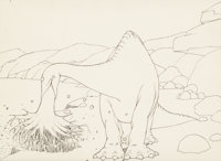 Gertie the Dinosaur Animation Drawing (Winsor McCay, 1914)