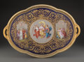 Ceramics & Porcelain, A Royal Vienna Polychromed and Partial Gilt Porcelain Two-Handled Tray Signed by F. Laufberger, Austria, late 19th century ...