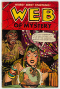 Golden Age (1938-1955):Horror, Web of Mystery #19 (Ace, 1955) Condition: VG....