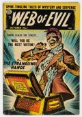Golden Age (1938-1955):Horror, Web of Evil #7 (Quality, 1953) Condition: VG-....