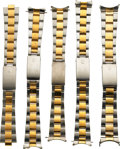 Timepieces:Other , Rolex, Five Two-Tone Bracelets. ... (Total: 5 Items)