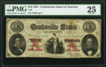 Confederate Notes:1861 Issues, T26 $10 1861 PF-6 Cr. 214 PMG Very Fine 25. PF...