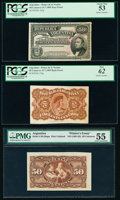Argentina Banco de la Nacion Argentina 50 Centavos 19.7.1895 Pick 230p Face and Back Proofs PCGS About New 53; New 62...