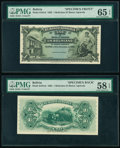 Bolivia Banco Agricola 1 Boliviano 22.11.1903 Pick S101sf; S101sb Front and Back Specimen PMG Choice About Unc 58 EPQ; G...