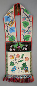 American Indian Art:Beadwork and Quillwork, A Chippewa Beaded Bandolier Bag...