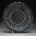 American Indian Art:Pottery, A San Ildefonso Blackware Plate ...