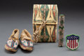 American Indian Art:Beadwork and Quillwork, Four Miniature Plains Items ... (Total: 4 )