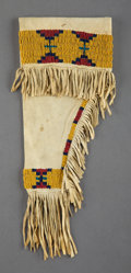 American Indian Art:Beadwork and Quillwork, A Sioux Beaded Hide Holster...