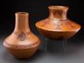 American Indian Art:Pottery, Two Navajo Polychrome Jars ... (Total: 2 )