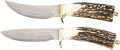 Edged Weapons:Knives, Lot of Two (2) Turkish Damascus Custom Knives by Jerry Rados.. ... (Total: 2 Items)