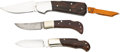 Edged Weapons:Knives, Lot of Three (3) Folders by Well-Known Knifemakers.. ... (Total: 3 Items)