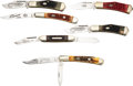Edged Weapons:Knives, Lot of Six (6) Cripple Creek Folding Pocket Knives.. ... (Total: 6 Items)