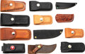 Edged Weapons:Knives, Lot of 12 Custom Knife Scabbards/Sheaths.. ...