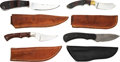 Edged Weapons:Knives, Lot of Four (4) Fixed Blade Knives by Custom Knifemakers, Larry Harley & Gene Baskett.. ... (Total: 4 Items)
