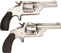 Handguns:Single Action Revolver, Lot of Two Smith & Wesson 2nd Model Top Break Single Action Revolvers.. ... (Total: 2 )
