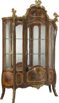 Furniture, A French Louis XV-Style Gilt Bronze Mounted Vernis Martin Vitrine, late 19th century . Marks: CH OLIVIER. 81 x 48-1/4 x ...