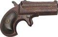 Handguns:Derringer, Palm, Remington Arms Type II Model No. 3 Over & Under Derringer Belonging to Captain Frank Hamer.. ...