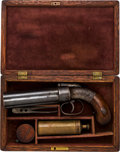 Handguns:Derringer, Palm, Cased Allen & Thurber Pepperbox Pistol.. ...
