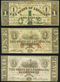Obsoletes By State:Louisiana, Baton Rouge, LA- State of Louisiana $1; $1; $2 Feb. 24, 1862 Cr. 3; Cr. 8; Cr. 2 Fine or Better.. ... (Total: 3 notes)