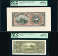 Brazil Thesouro Nacional 50 Mil Reis ND (1908) Pick 53p Face and Back Proofs PCGS Gem New 66PPQ (2). ... (Total: 2 notes...